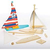 Kit Barca a Vela per Bambini da Creare, Decorare ed Personalizzare come Idea Creativa (confezione da 2)
