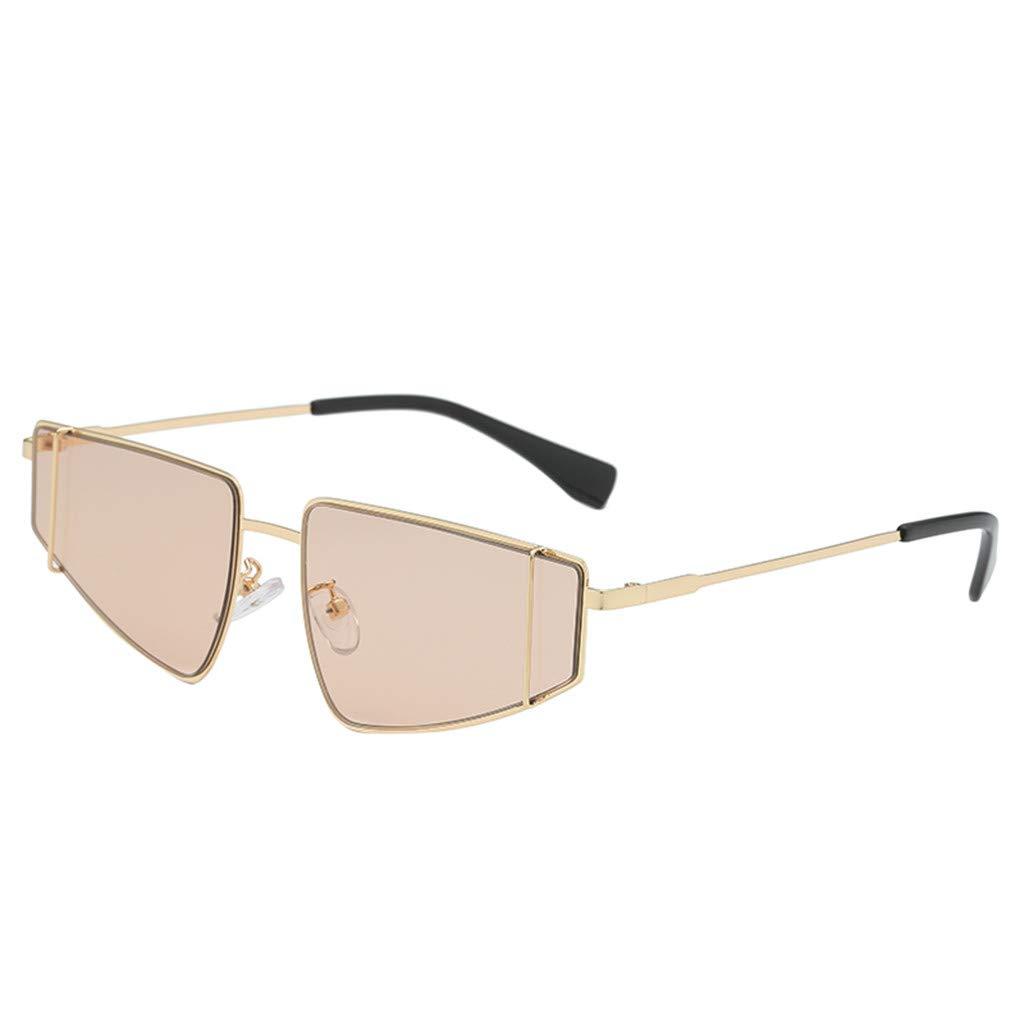 ♔IAMUP Fashion Man Women Irregular Shape Sunglasses Irregularity Outdoor Glasses Travel Vintage Retro Style