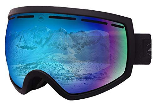 - Ski & Snowboard Goggles - Dual-Layer Lens Snow Goggles for Skiing, Snowboarding, Motorcycling & Winter Sports - Anti-Fog and Helmet Compatible - UV400 Protection - Fits Men, Women & Youth
