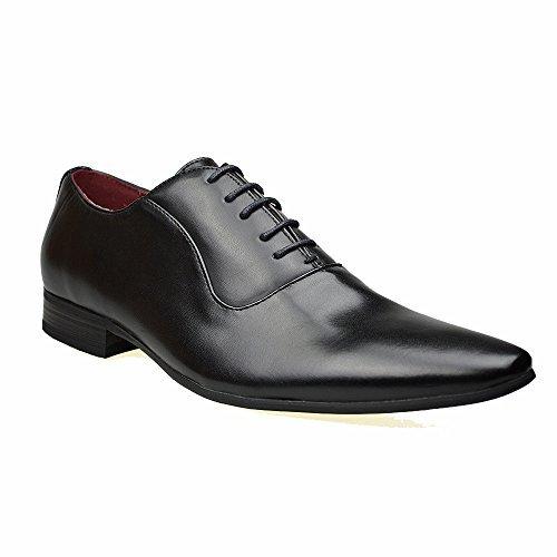 Mens Smart Fashion Black / Brown / Grey Leather Formal Lace Up Brouge Shoes UK Size 6 7 8 9 10 11 (UK 8 (42), Black)