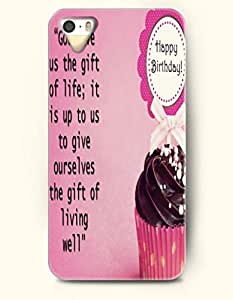 iPhone 5 5S Case OOFIT Phone Hard Case ** NEW ** Case with Design God Gave Us The Gift Of Life;It Is Up To Us To Give Ourselves The Gift Of Living Well- Pious Monologue - Case for Apple iPhone 5/5s