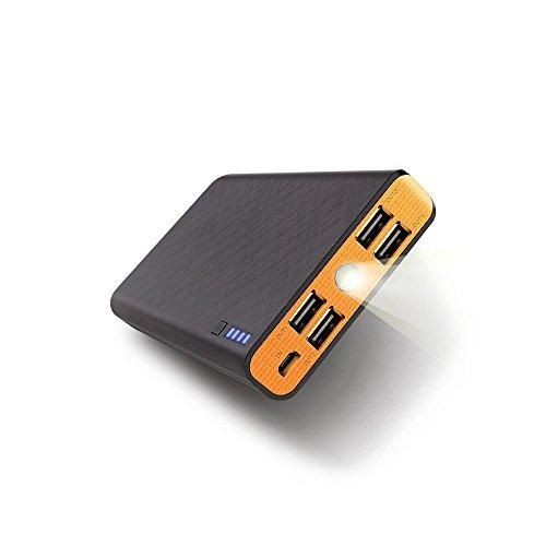 Fritesla 20000mah Power Bank 4USB Portable Charger for Smartphones (Orange)
