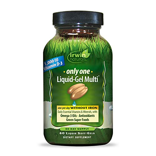 Irwin Naturals Only One Liquid-Gel Multi - No Iron Daily Essential Vitamins