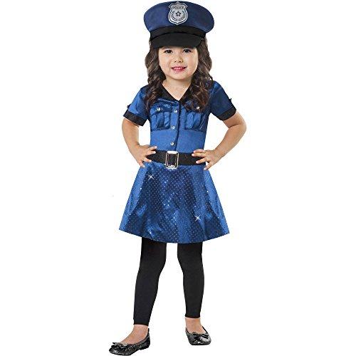 Toddler Girls Cop Cutie Police Officer Dress Costume Size (Police Officer Costume For Toddler)