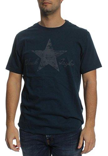 Converse T-Shirt Men WASHED REFLECTIVE 10001078 Dunkelblau 486