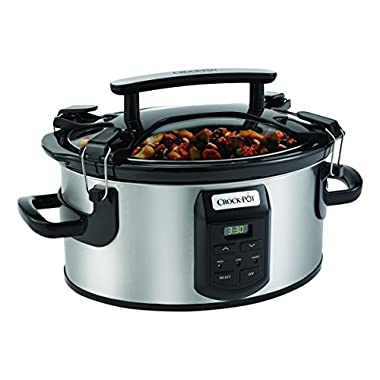 Crockpot SCCPVS600ECP-S Cook and Carry Cooker with Digital Control, 6 quart, Silver