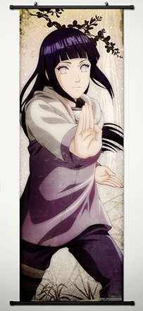 Wall Scroll Poster Fabric Painting For Anime Naruto Hyuuga H
