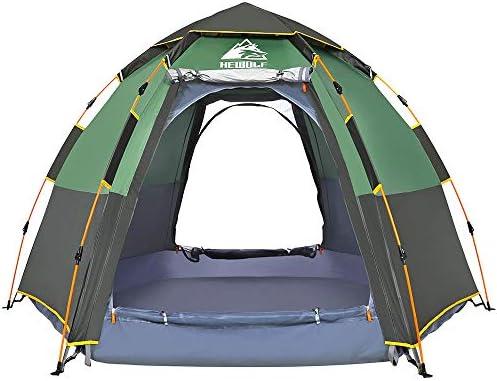 Hewolf Tente Automatique Pop Up Tentes de Camping 2-3 Personnes Tente Imperm/éable Hydraulique Tentes Familiale Double Couche Tente Facile /à Installer avec Sac de Transport 230 x 210 x 135cm