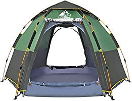 Hewolf Waterproof Instant Camping Tent - 2-3 Person Easy Quick Setup Dome Family Tents for Camping,Double Layer Flysheet...