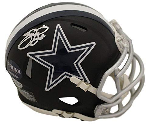 0fa625a13e6 Emmitt Smith Autographed/Signed Dallas Cowboys Black Mini Helmet BAS