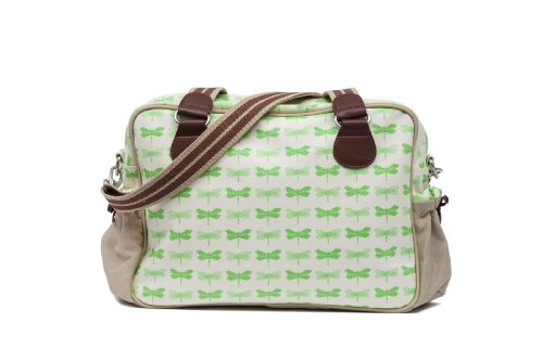 Pink Lining Not So Plain Jane Napy Bag, Green Dragonflies by Pink Lining
