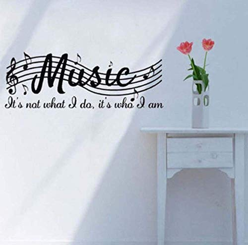 (Home Decor Mural PVC DIY Removable Wall Sticker Poster Room Decor Decal Art Musical Notes Sheet 71X25Cm for Kids Room)