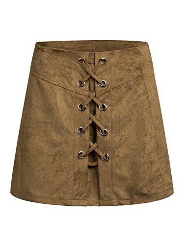 PERSUN Suedettte Closure Skirt Size Updated
