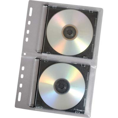 (Fellowes CD Binder Sheet - 10 Pack - Sleeve - Slide Insert - Vinyl - Clear - 2 CD/DVD)