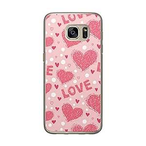 Loud Universe Samsung Galaxy S7 Love Valentine Files Valentine 173 Printed Transparent Edge Case - Pink