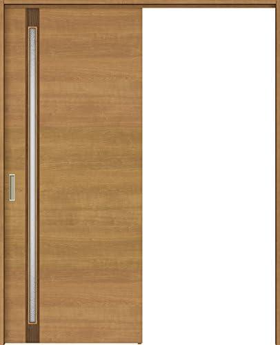 ラシッサS 上吊引戸 片引戸標準 ASUK-LGF 1820J 錠付 W:1,824mm × H:2,023mm ノンケーシング 本体/枠色:クリエペール(PP) 勝手:右勝手 枠種類:180mm幅(ノンケーシング枠) 引手(シャインニッケル) 床見切り:なし 機能:ブレーキ プッシュ錠:表示錠(シャインニッケル) 錠加工位置:標準位置 LIXIL リクシル TOSTEM トステム
