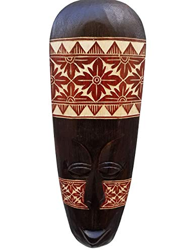 - All Seas Imports Gorgeous Unique Hand Chiseled Wood African Style Wall Decor Mask Unique Pattern Design!