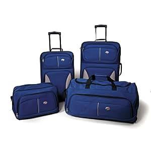 American Tourister Fieldbrook 4 Piece Luggage Set, Cobalt Blue, One size