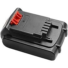 [Patrocinado] Turpow - Batería de iones de litio de repuesto para Black & Decker (20 V, 20 V, máx. LBXR20 LBX20 LBXR2020-OPE LBXR20B-2 LB2X4020, batería inalámbrica para herramientas)