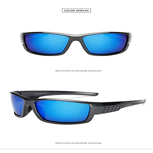 Gris Lunettes Glasses Cadre Soleil Sports Style Noir Pare Polarisées bleu Polarized De Men's Film brillant Brise 1020 Riding Sable bleu Inovey Outdoor cadre 5fTwq8awx