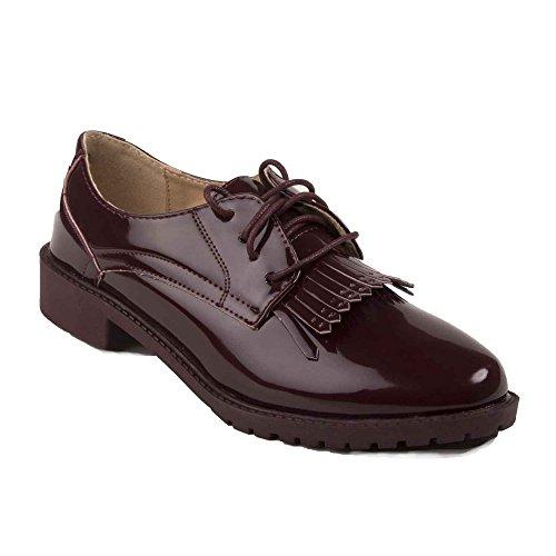 Zapatos Primtex granate cordones de mujer para dTApqFwnTx