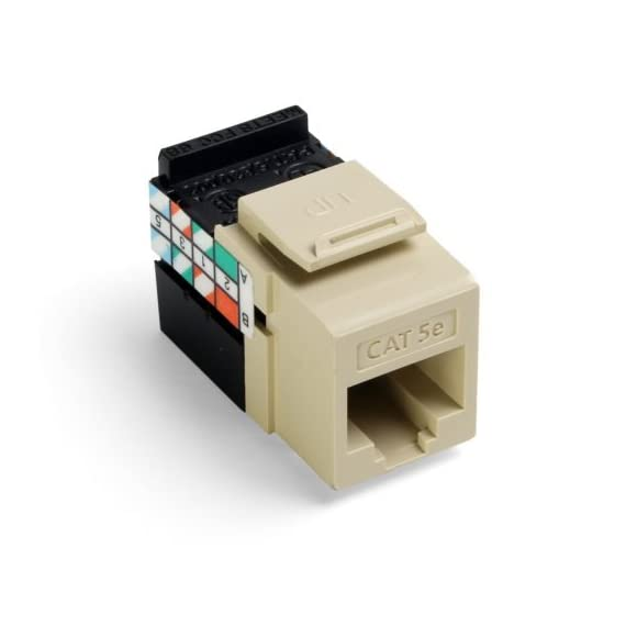 Leviton Gigamax 5E Quickport Connector, Cat 5E 2 Independently tested and verified by Intertek (ETL) Exceeds all industry standards for performance and mechanical requirements Easy termination and installation