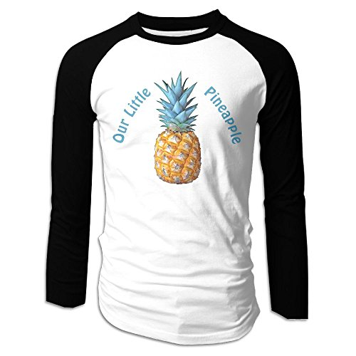 Puppylol Men's Our Little Pineapple Long Sleeve Raglan T-Shirts L
