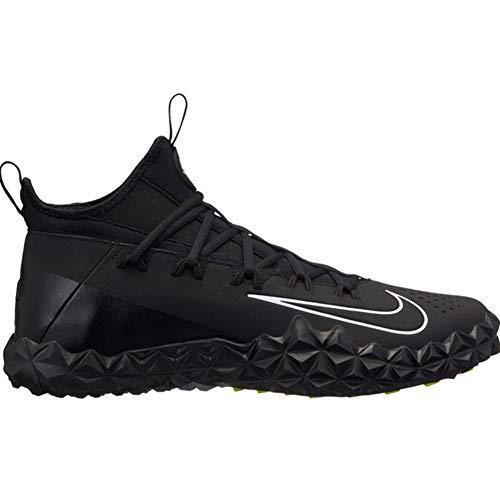 Nike Men's Alpha Huarache 6 ELT Turf Lacrosse Cleats Black/White Size 9.5 M US