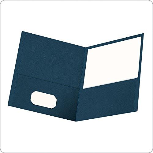 Oxford Twin Pocket Folders, Letter Size, Dark Blue, 25 per Box (57538EE)