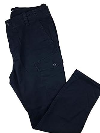 Nautica Men's Twill Cargo Pant (32W x 30L, Navy)