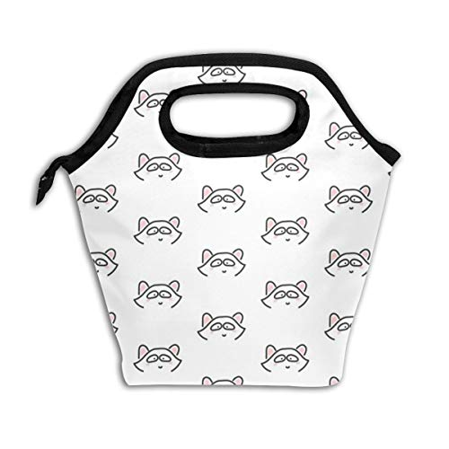 Line Raccoon_2560 Lunch Bag Insulated Lunch Box Reusable Lunch Tote Cooler Organizer Bag Lunch Bags for Women,Men and Kids Adults