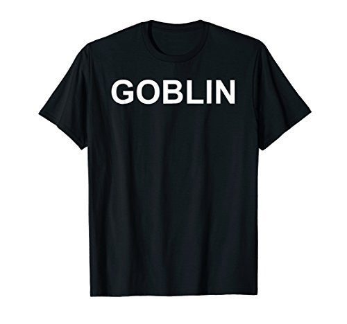 Shirt That Says Goblin Text T-Shirt Costume Gift]()