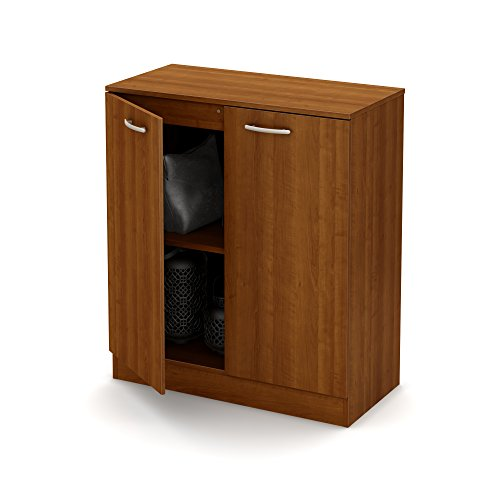South Shore Axess Small 2-Door Storage Cabinet, Morgan Cherry