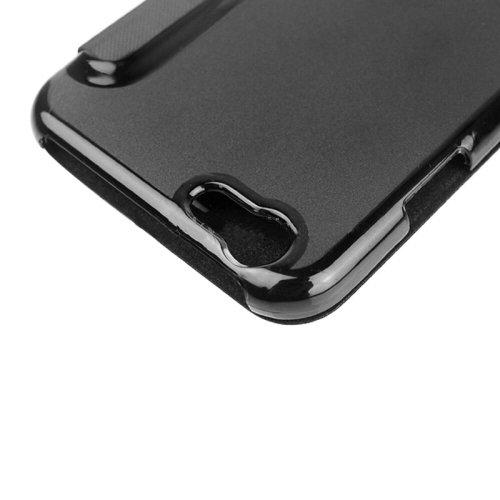 Phone Taschen & Schalen Für iPhone 6 Plus & 6S Plus, Horizontale Flip Leder Tasche mit Call Display ID ( Color : Black )