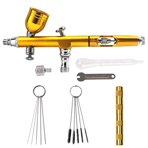 7Cc 0.2Mm/0.3 Nozzles Airbrush With 11Pcs Set Cleaning for sale  Delivered anywhere in USA