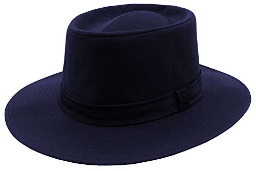 VINTAGE Retro Rain Proof Sunblocking Fedora HAT - MADE IN THE USA (Navy)