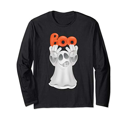 Funny Boo Ghost Tshirt For Halloween Day Long Sleeve T-Shirt -
