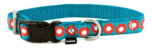 PetSafe Fido Finery Quick Snap Dog Collar, 1/2-Inch, Petite, Teal My Heart
