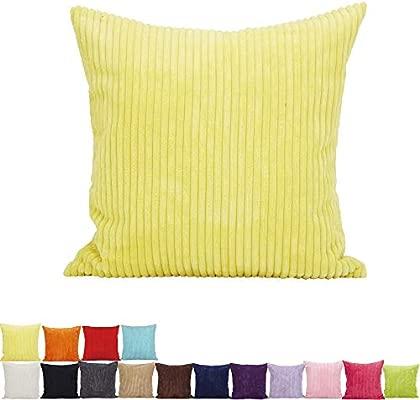 Alimama - 2 Piezas sólidas de Color Terciopelo Acanalado ...