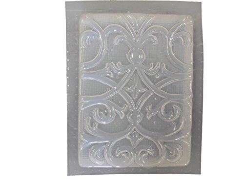 (Floral Swirl Plaque Concrete Plaster Mold 7044)