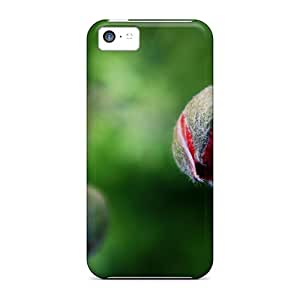 Premium Tpu Lovely The Flower Buds Cover Skin For Iphone 5c