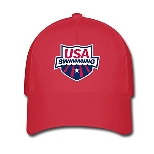 DEBBIE Unisex USA Swimming Team 2016 Rio Summer Olympic Baseball Caps Hat One Size Red