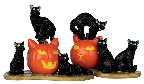 Lemax Spooky Town Halloween Cats, Set of 2 12883 -