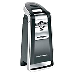 Deluxe can opener opens all can types- including pop-tops with the side cutting action that lifts the can top off and leaves a smooth edge . Large ergonomic lever is easy to operate. Extra tall design in black & Chrome to fit any kitchen ...