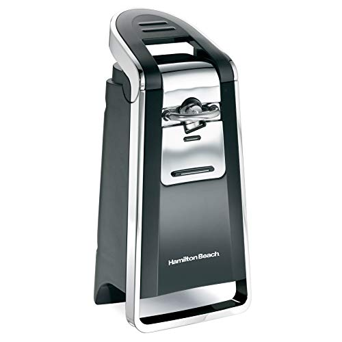 Hamilton Beach (76606ZA) Smooth Touch Electric Automatic Can Opener with Easy Push Down Lever, Opens All Standard-Size and Pop-Top Cans, Black and - Black Tini Blade Handle