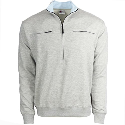 Easy Port Access Chemo Pullover in French Tarry - Best Gift for Cancer Patients (Large, Grey)