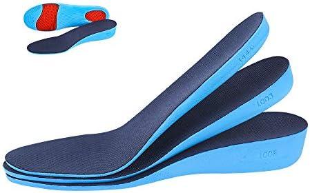 Erhöhende Einlegesohle, elastische stoßdämpfende Höhe, Sportschuheinlage oder Herren und Damen, bequeme, atmungsaktive Ersatzeinlagen