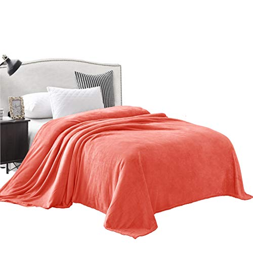 Exclusivo Mezcla Large Flannel Velvet Plush Throw Blanket and Bed Blanket- Various Sizes and Colors