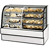 Federal Industries CGR5942DZ Curved Glass Vertical Dual Zone Bakery Case Refrigerated Left Non-Refrigerated Right