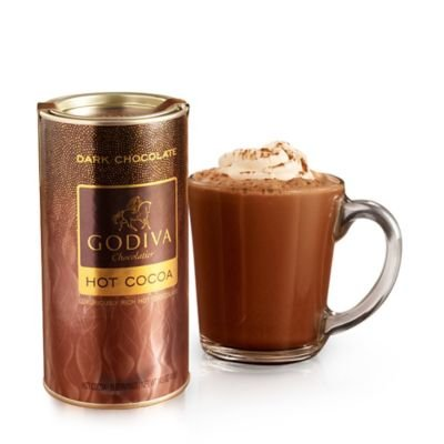 - GODIVA Chocolatier Dark Chocolate Hot Cocoa Canister,14.5 oz